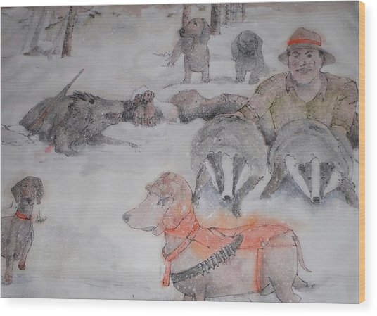 Hunting Season Comes Again Album Wood Print