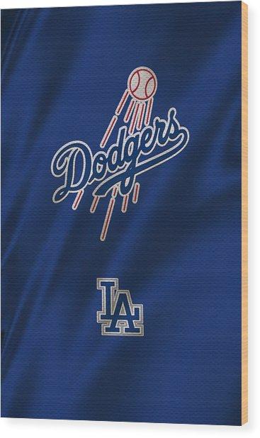 Los Angeles Dodgers Uniform Wood Print