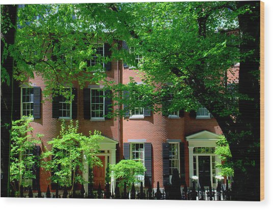10 Louisburg Sq Beacon Hill Wood Print