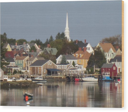 New Castle Harbor Nh Wood Print