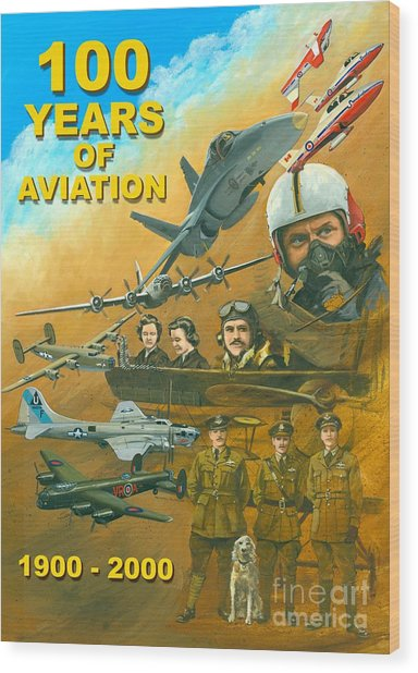 100 Years Of Aviation Wood Print by Michael Swanson