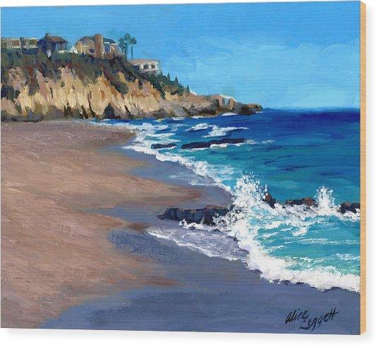1000 Steps Beach In Laguna Beach California Wood Print