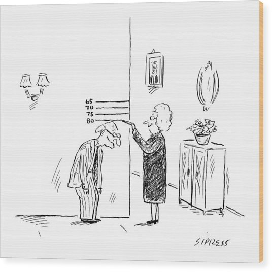 New Yorker February 27th, 2006 Wood Print
