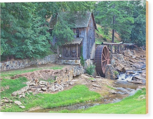 Sixes Mill On Dukes Creek Wood Print