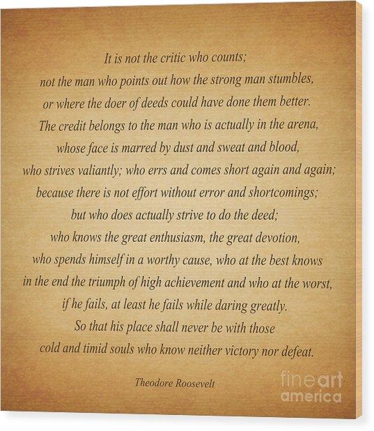 104- Theodore Roosevelt Wood Print
