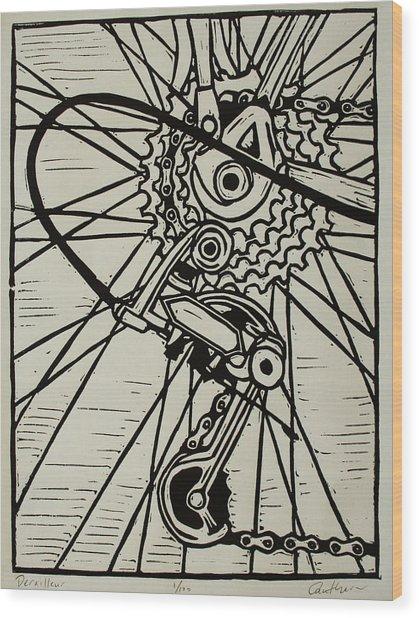 Derailluer Wood Print