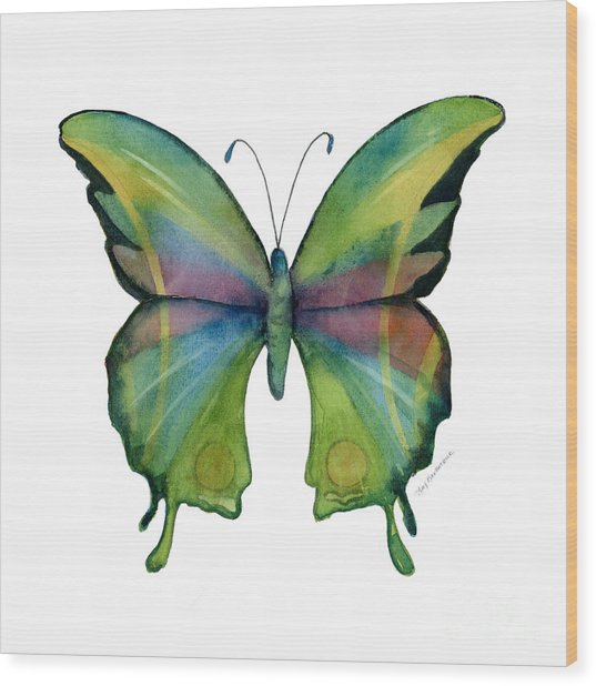 11 Prism Butterfly Wood Print