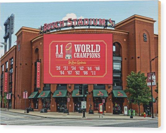 11 Time World Champion St Louis Cardnials Dsc01294 Wood Print