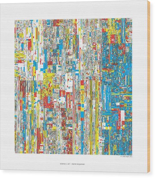 111469 Digits Of Pi Wood Print by Martin Krzywinski