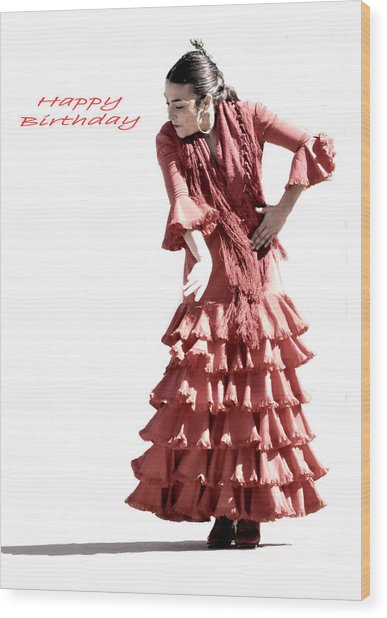 113 Chiki Torres Birthday Card Wood Print by Patrick King