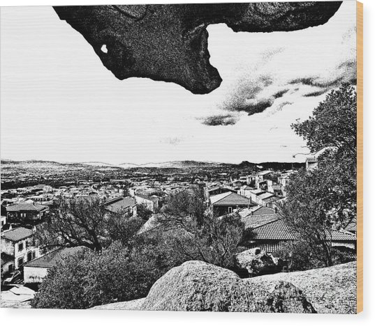 Arzachena Landscape Wood Print
