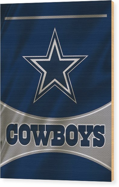 Dallas Cowboys Uniform Wood Print