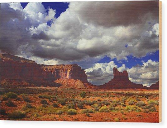 Monument Valley Utah Usa Wood Print