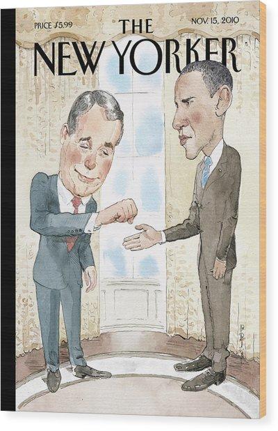 New Yorker November 15th, 2010 Wood Print