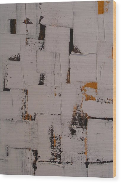 Untitled Wood Print by Etel Canalis