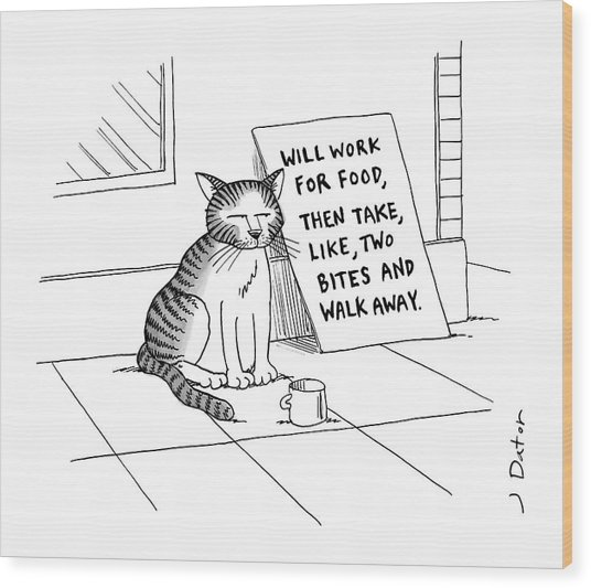 New Yorker September 22nd, 2008 Wood Print
