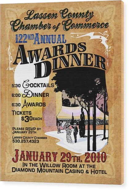 122nd Annual Awards Dinner Wood Print by The Couso Collection