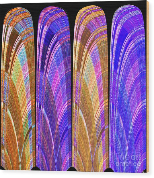 1260 Abstract Thought Wood Print