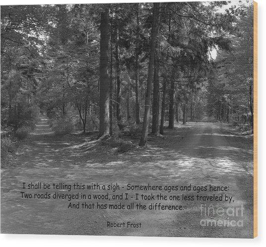 12a- Robert Frost  Wood Print