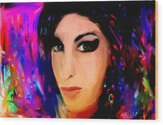 Amy Winehouse Wood Print by Bogdan Floridana Oana