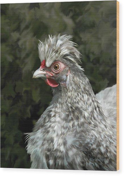 13. Cuckoo Hanno Wood Print by Sigrid Van Dort