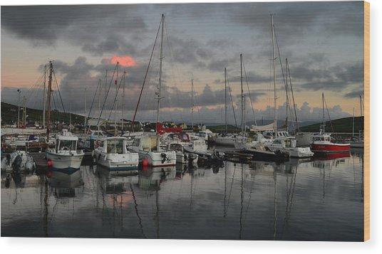 Dingle Marina Wood Print by Barbara Walsh