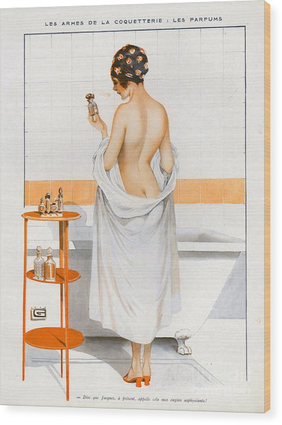La Vie Parisienne  1916 1910s France Cc Wood Print