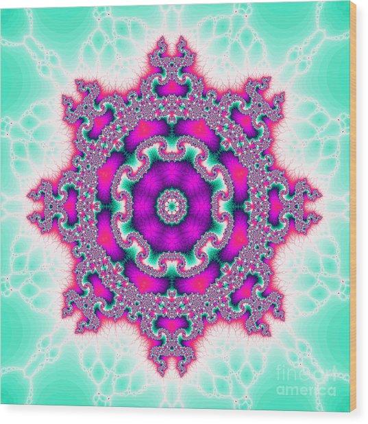 The Kaleidoscope Wood Print by Odon Czintos