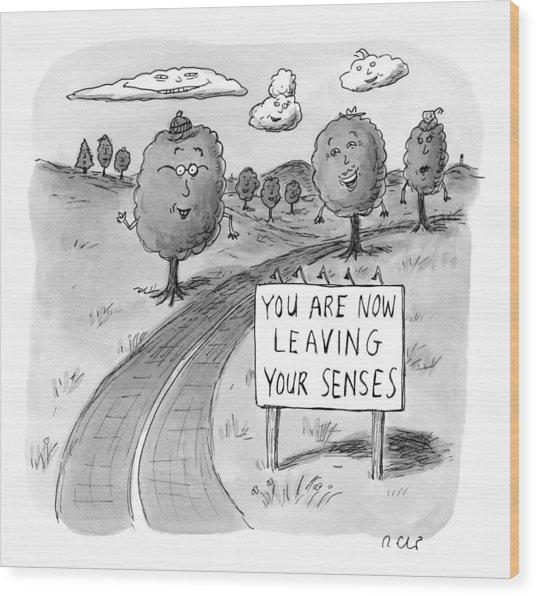 New Yorker April 20th, 2009 Wood Print