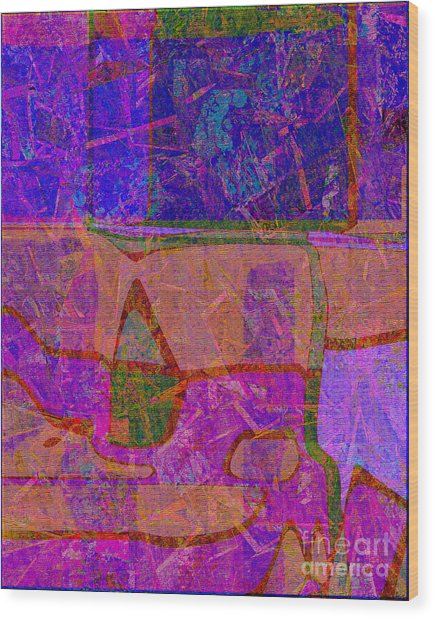 1381 Abstract Thought Wood Print