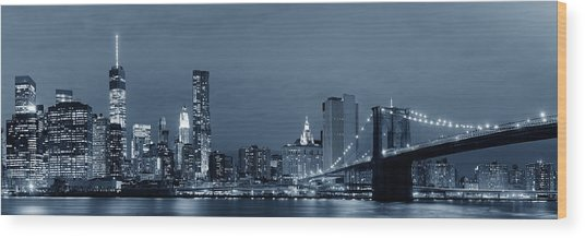 Manhattan Downtown Wood Print