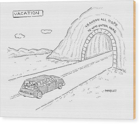 New Yorker April 18th, 2005 Wood Print