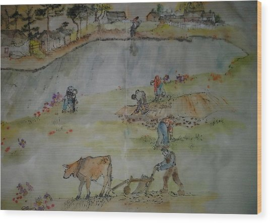 Van Gogh My Way Album Wood Print by Debbi Saccomanno Chan