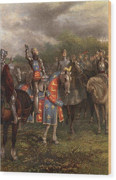 1400s Henry V Of England Speaking Wood Print