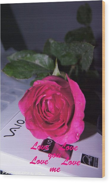 Rose For You Wood Print by Gornganogphatchara Kalapun