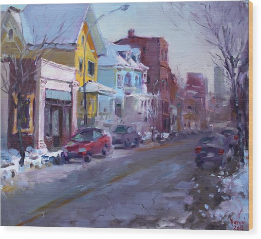 149 Elmwood Ave Savoy Wood Print