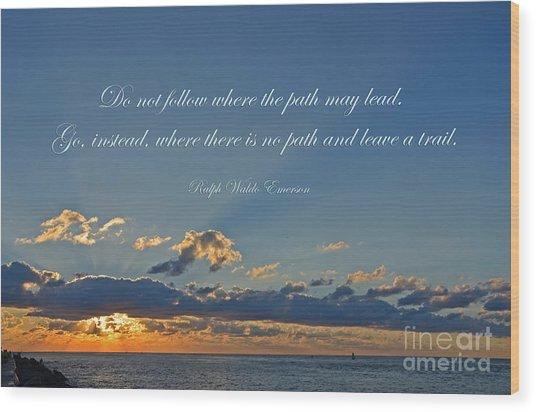 149- Ralph Waldo Emerson Wood Print