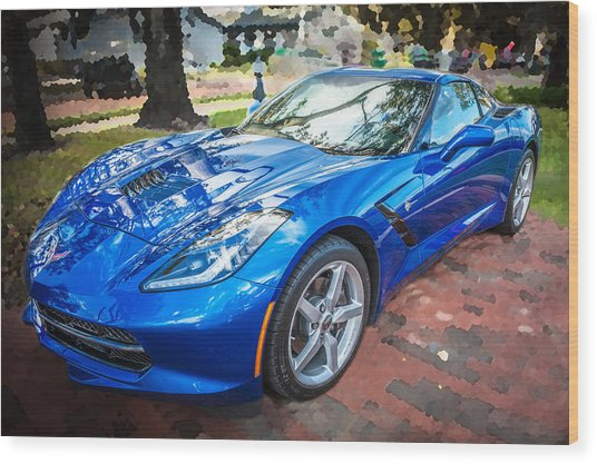 2014 Chevrolet Corvette C7 Wood Print
