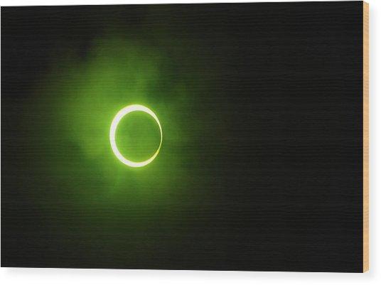15 January 2010 Solar Eclipse Maldives Wood Print