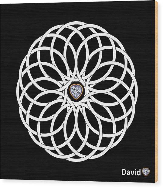 16 Circles Wood Print by David Diamondheart