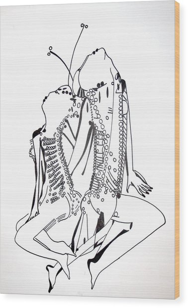 Dinka Dance - South Sudan Wood Print