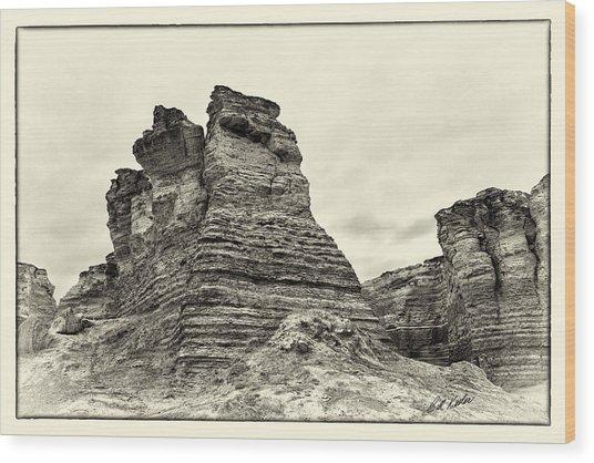 Monument Rocks - Chalk Pyramids Wood Print