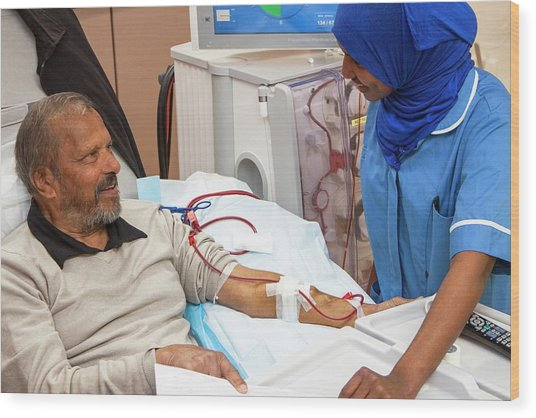 Shared Care Dialysis Unit Wood Print