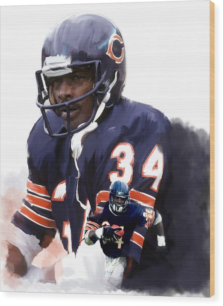 Sweet Chicago Walter Payton Wood Print