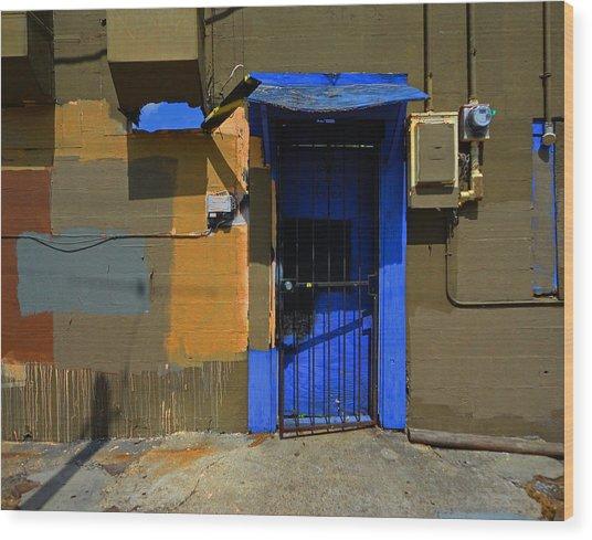 New Orleans Door Wood Print