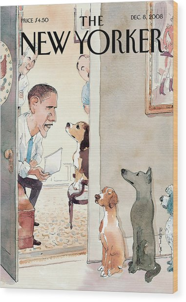 New Yorker December 8th, 2008 Wood Print by Barry Blitt