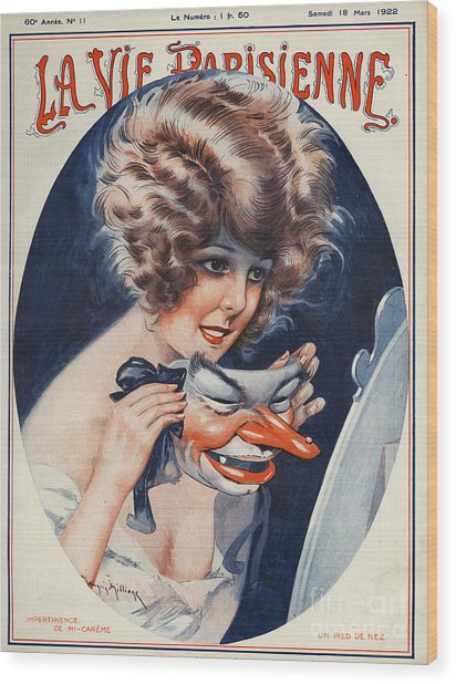 La Vie Parisienne  1922 1920s France Wood Print by The Advertising Archives