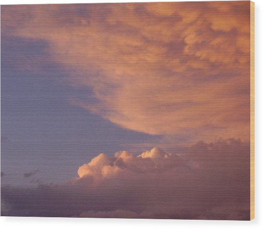 Montana Clouds Wood Print by Yvette Pichette