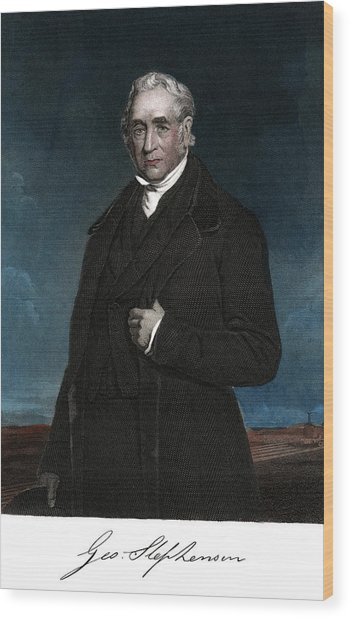 1800s George Stephenson English Civil Wood Print