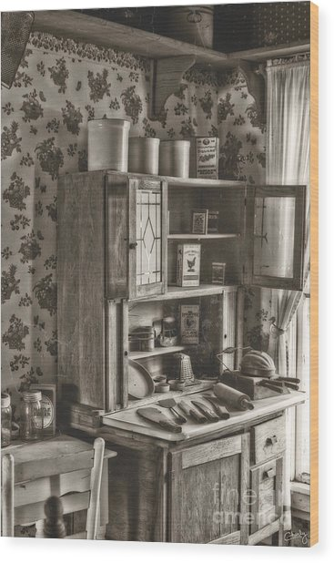 1800s Kitchen Wood Print